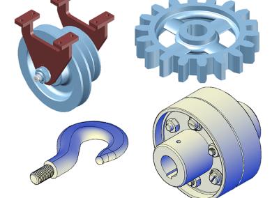 Esercizi pezzi meccanici 3D